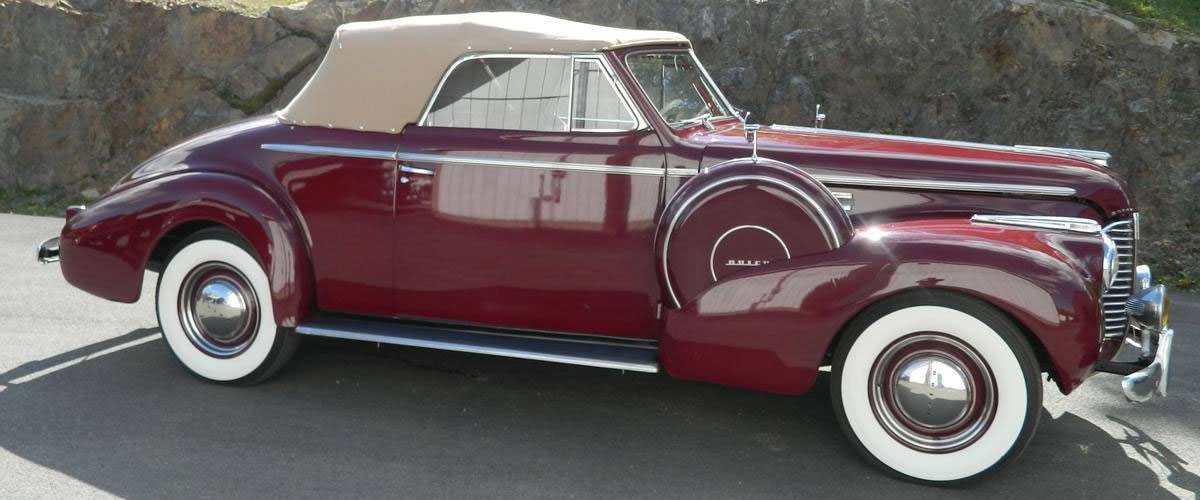1940 Buick Convertible with Sidemounts For Sale