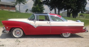 1955 Ford Crown Victoria Sunliner Glasstop For Sale