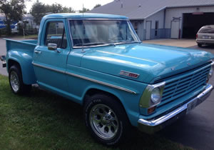 1967 Ford F100 Stepside Custom Cab Pick Up Truck For Sale